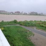 数年前、大水が出た時の桂川