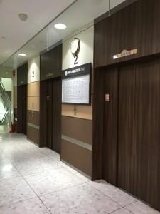 高槻のイオンの2階のエレベーター